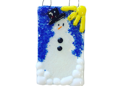 Snowman- Fused Glass