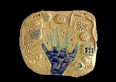 Textured Hand Plaque