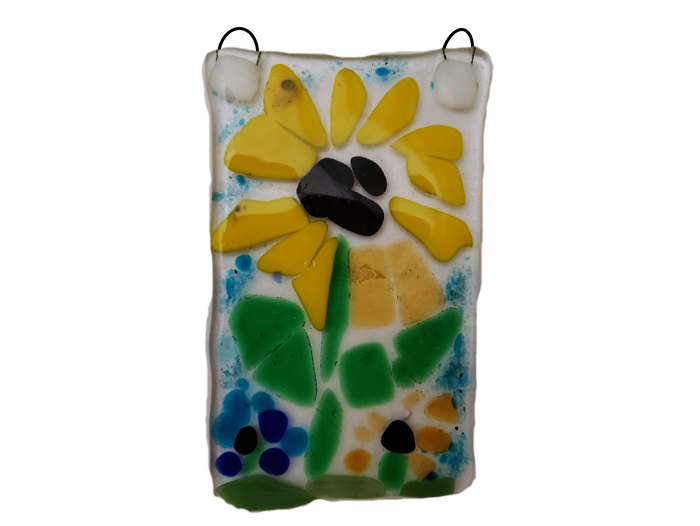 Van-Gogh's-Inspired-Sunflowers-Fused-Glass