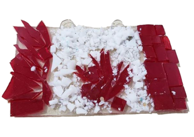Canada Flag- Fused Glass