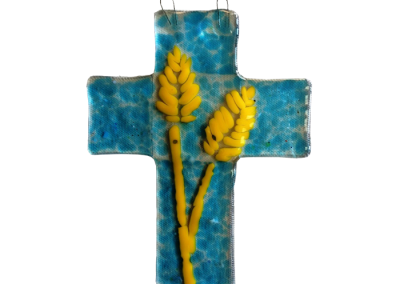 Crucifix- Fused Glass