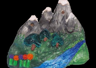 Environmental Scene Plaque Mountains