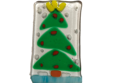 Holiday Tree -Fused Glass
