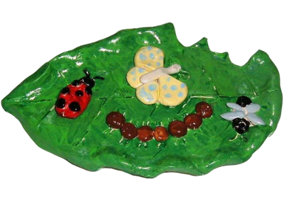 Insects on a Leaf