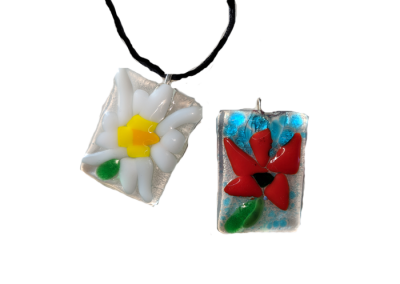 Pendant and Key-chain Set – Fused Glass