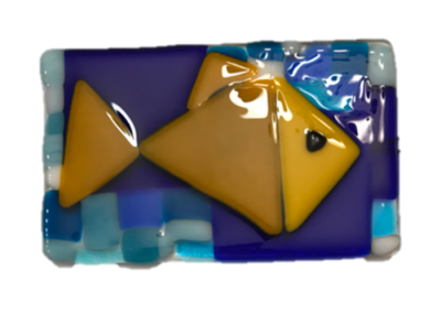 Picasso Inspired Fish – Fused Glass