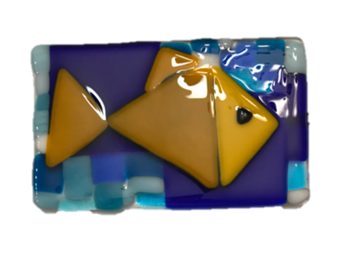 Picasso-Fish-Fused-Glass