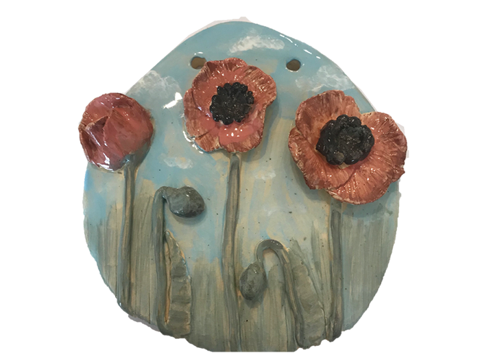 Poppies-Plaque