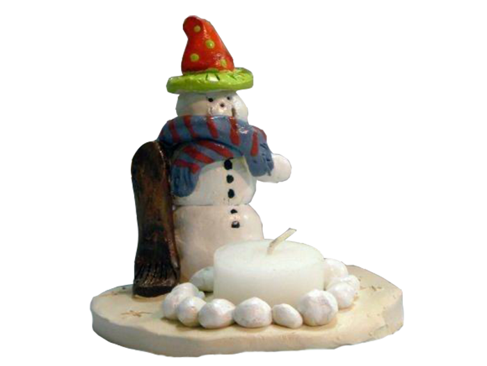 Snowman-Tea-Light