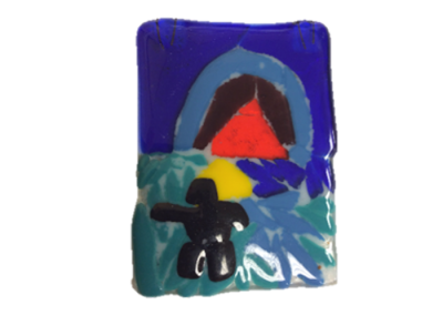 Ted Harrison- Fused Glass